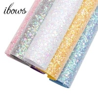 ibows 22cm30cm glitter fabric shiny faux leather sheets for bows handmade decoration crafts materials bag shoes accessories
