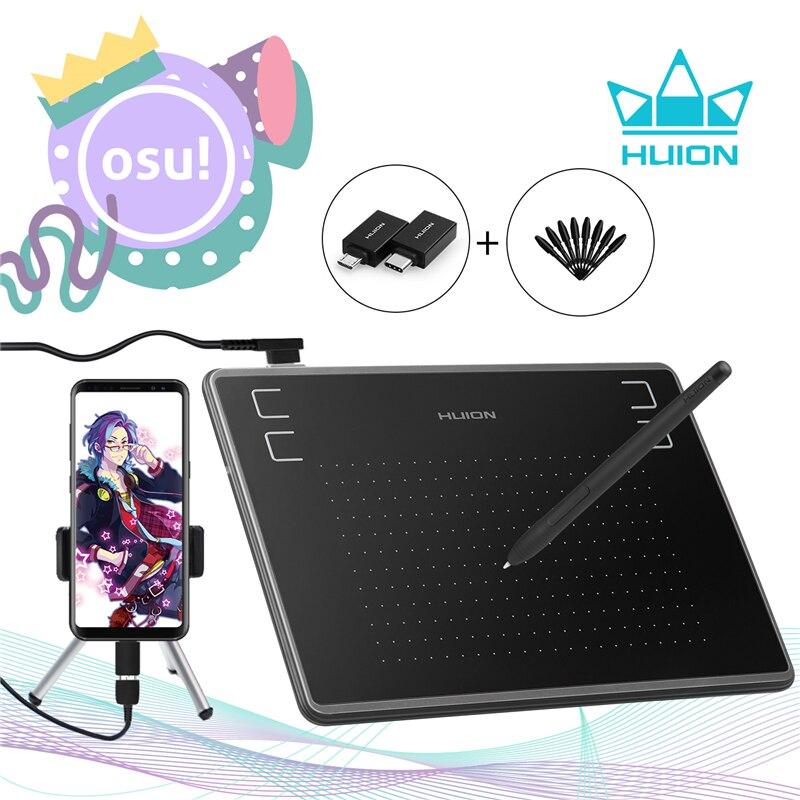 HUION H430P rysunek graficzny cyfrowe tabletki długopis signature Tablet OSU Tablet do gier z bezbateryjnym długopis stylus z prezentem
