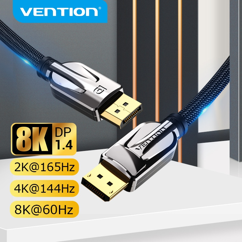AliExpress - Vention DisplayPort 1.4 Cable 8K 60Hz 4K HDR  Display Port Audio Cable for Video PC Laptop TV Display Port 1.4 DP Cable 1.2