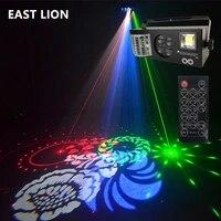 Lampe Led stroboscopique Rgb 4 en 1  avec telecommande Laser  effet couleur Disco fleur musique boule rotative  lumieres de Bar pour systemes Home cinema