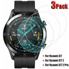 3Pack Tempered Glass Screen Protectors for Huawei Watch GT 2 Pro Explosion Proof Anti Scratch Smartwatch Protective Glass