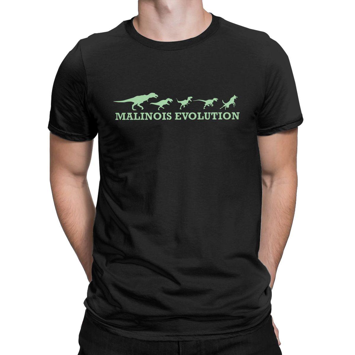 Malinois Evolution T Hemd Männer 100% Baumwolle Vintage T-Shirts Crewneck Belgischen Hund T Shirt Kurzarm Tops Geschenk Idee