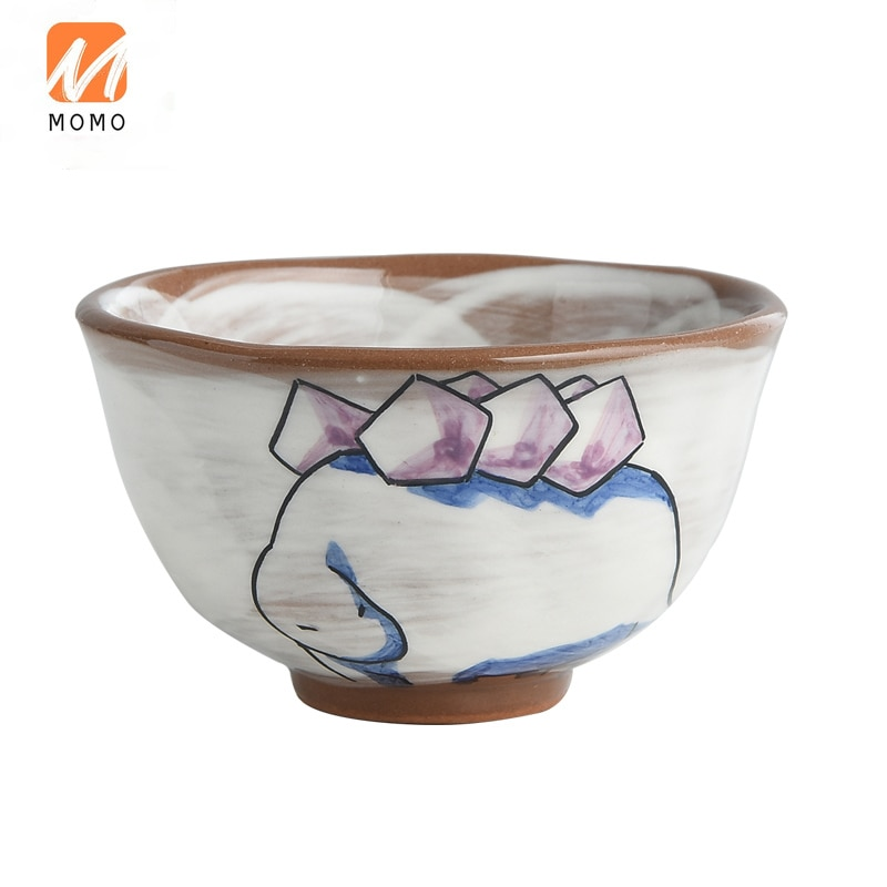 Ceramic Children's Tableware Baby Food Supplement Cup Food Dispatch Disk Dining Bowl Cartoon Cute