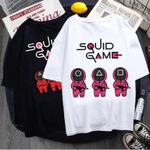 Korean TV Squid Game T Shirt Men Kawaii Cartoon Summer Tops 456 Graphic Tees Unisex Harajuku Fashion Korean T-shirt Tops Male