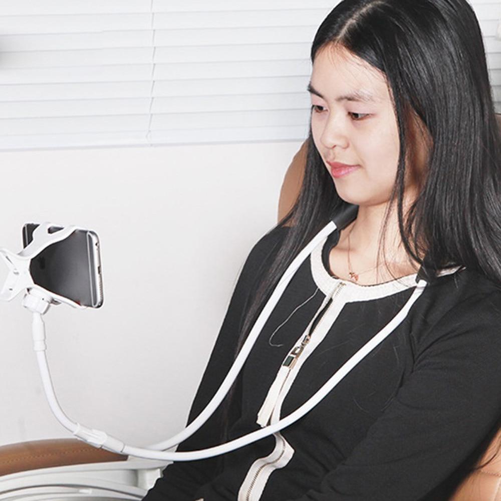 Soporte para teléfono Universal de cuello colgante perezoso soporte para teléfono soporte para collar soporte de soporte compatible para todo tipo de teléfonos móviles