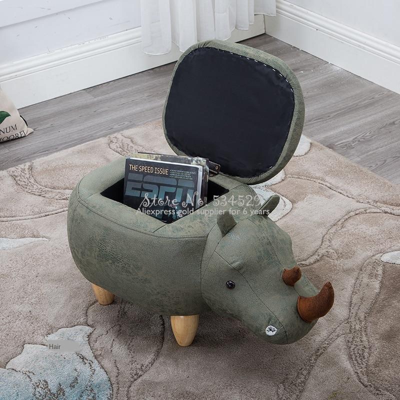 30% a2 criativo rinoceronte footstool sapatos de madeira maciça banco sofá altman móveis teste sapatos fezes armazenamento fezes
