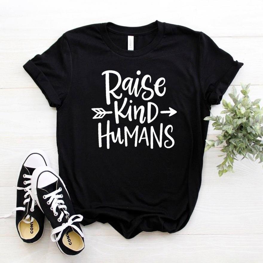 Criar tipo humanos flecha imprimir mujeres Camiseta de algodón Casual divertido t camisa para mujer chica Tee superior Hipster de la nave de la gota NA-344