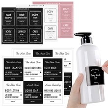 Bottiglie per bagno adesivi per etichette lozione cosmetica Dispenser di sapone canta etichette postate etichette per balsamo Shampoo impermeabili