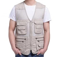 big size fishing vest male with many pockets men sleeveless jacket waistcoat work vests outdoors vest
