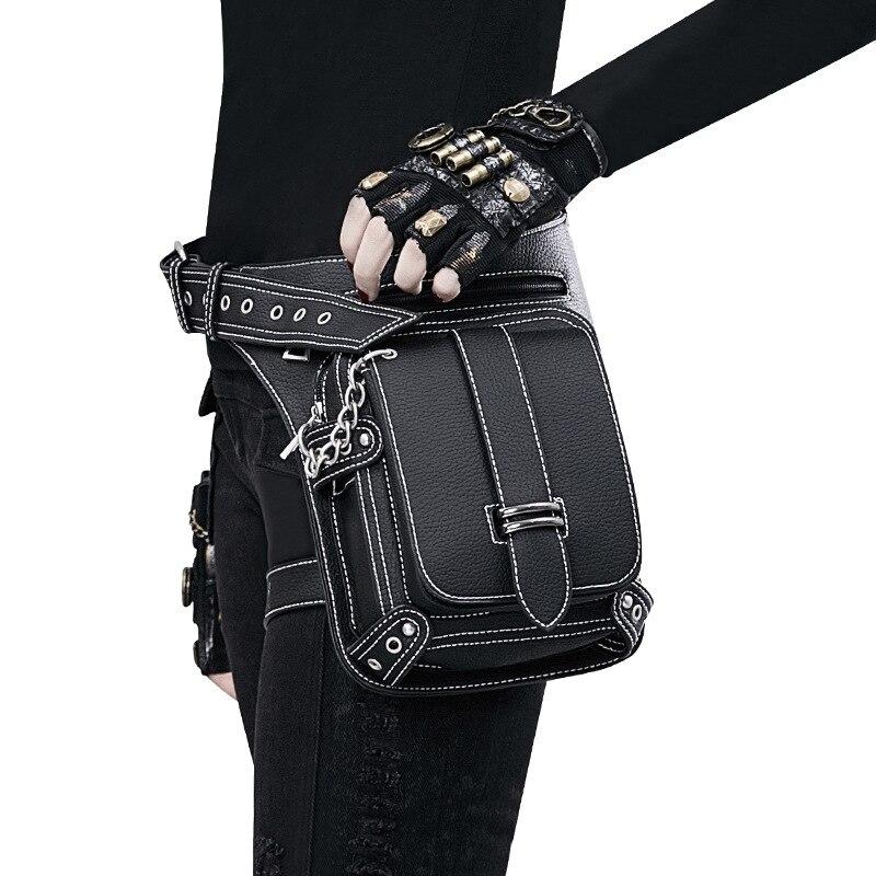 New Designer Steampunk Retro Ombro Sacos de Cintura Pacotes de Rock Gótico Goth Estilo Vitoriano para As Mulheres Homens + Perna Coxa Holster Bag