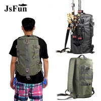 multifunctional fishing tackle bag outdoor travel backpack single shoulder crossbody lure rod storage bags pj254