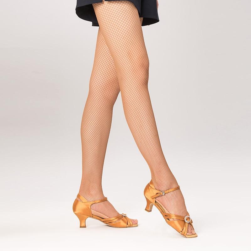 سانشا فرنسا سانشا المرأة المهنية اللاتينية الرقص شبكة جوارب جوارب طويلة المرأة اللاتينية الرقص الجوارب الكراميل اللون الصلب شبكة