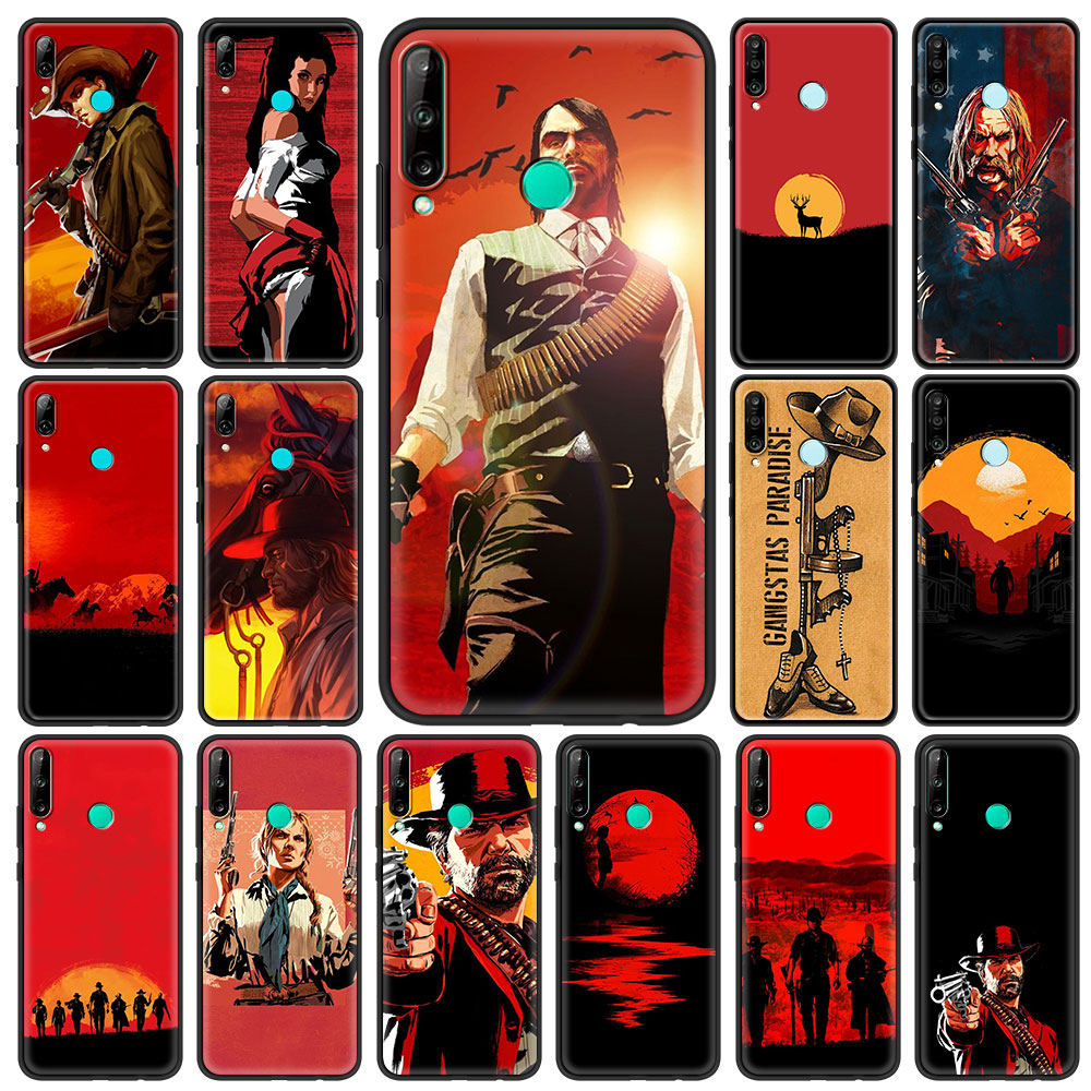 Red Dead Redemption 2 Mobile Phone Case for Huawei Y6 Y7 Y9 2019 Y6p Y8p Y8s Y9a Mate 20 40 Pro 10 Lite TPU Soft Cover Shell