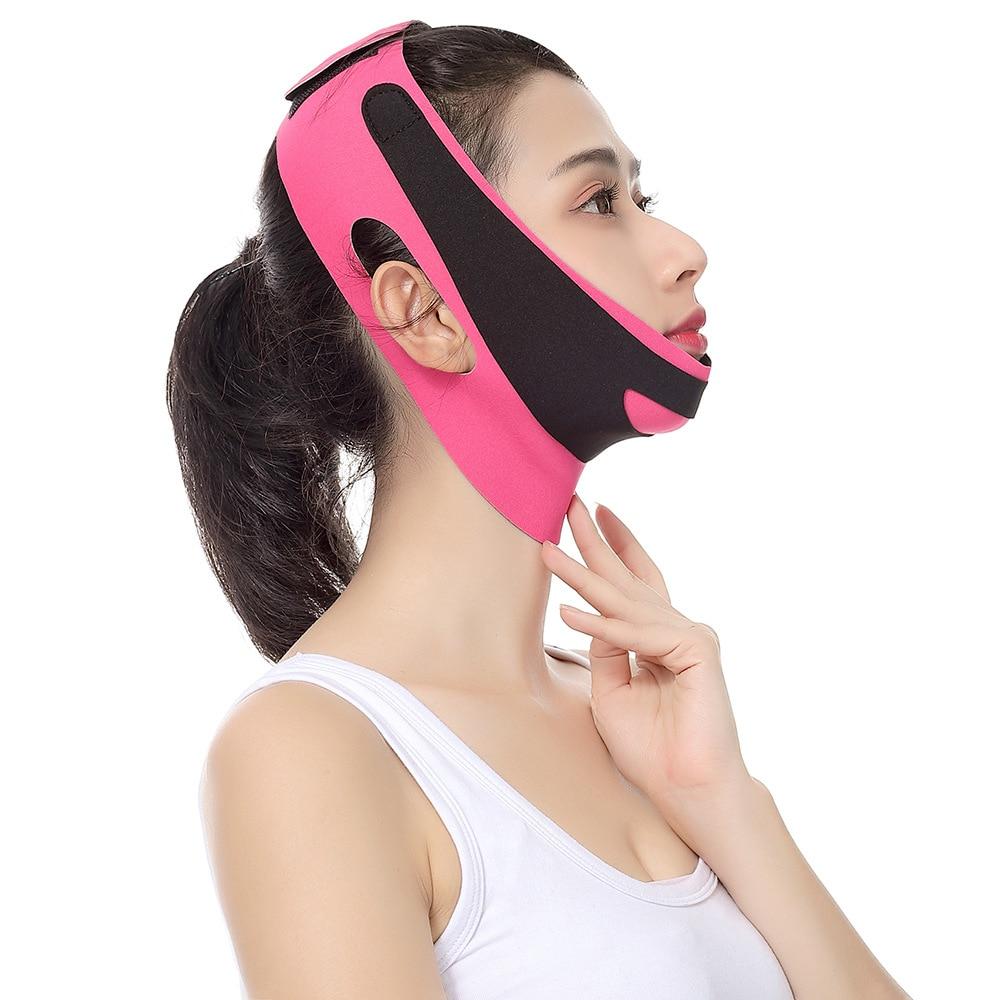 Elastic Face Slimming Bandage V Line Face Shaper Women Chin Cheek Lift Up Belt Facial Massage Strap Face Skin Care Beauty Tools