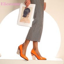 2020 Brand New Sweet Orange White Women Nude Pumps Fashion High Heels Lady Dress Shoes LA267 Plus Big Size 11 43 46 48