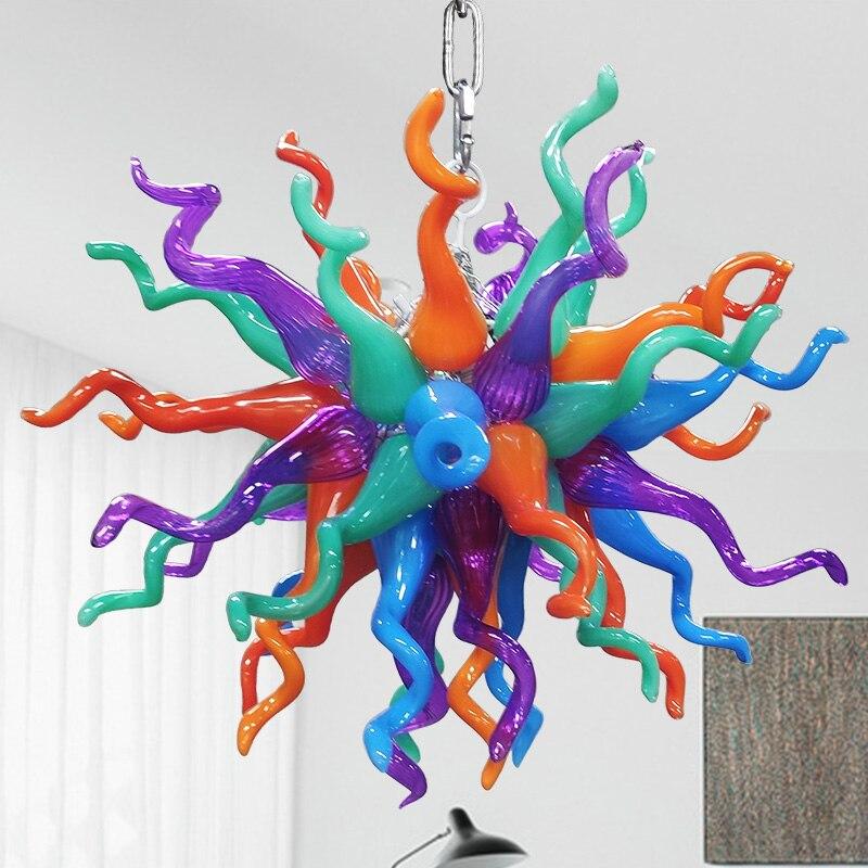 Новые Разноцветные Мини-подвесные светильники, люстры с современным муранским стеклом 100%, ручная люстра, освещение, декор для гостиной