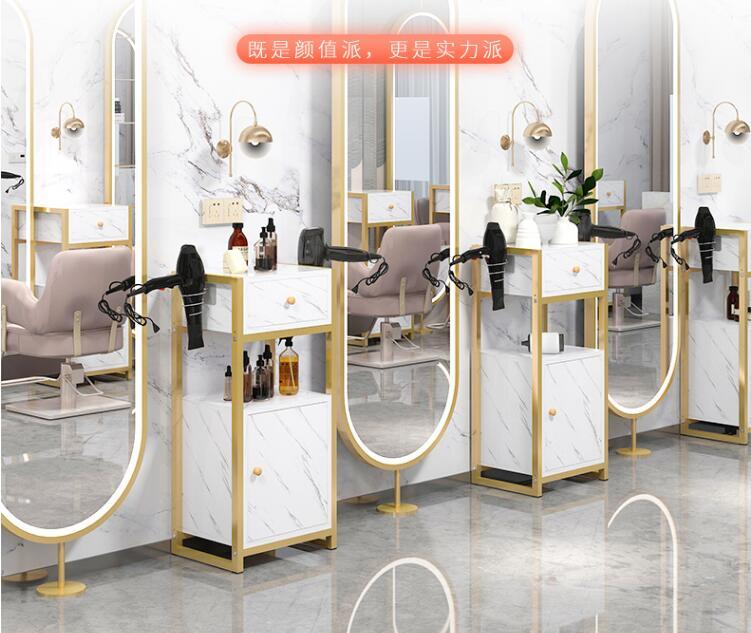 Интернет-знаменитость парикмахерского инструмента автомобиля Зеркало для салона красоты стойки мобильный маленький шкаф парикмахер мага...