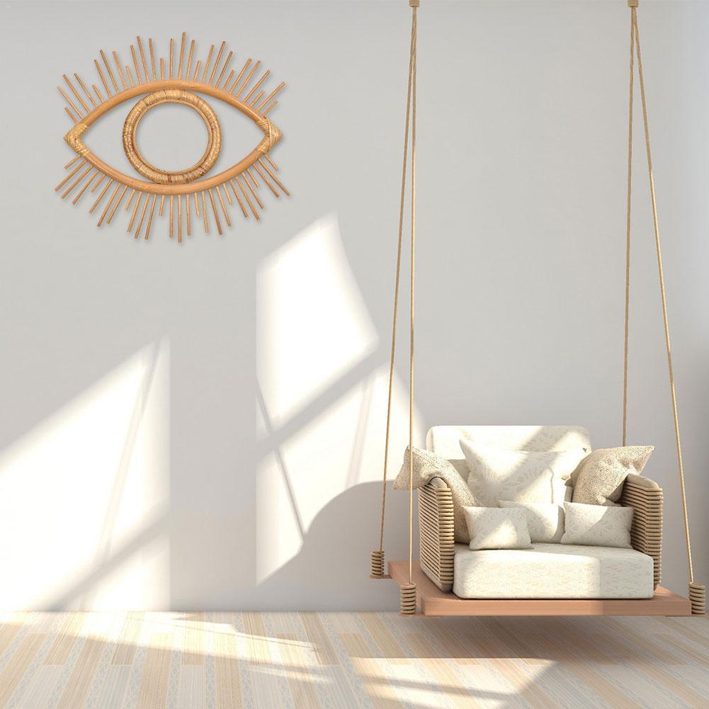 Innovadora artesanía de ratán Marco de ojo foto creativa cuadro colgado de la pared decoración del hogar sala de estar suministros decorativos 1 Uds
