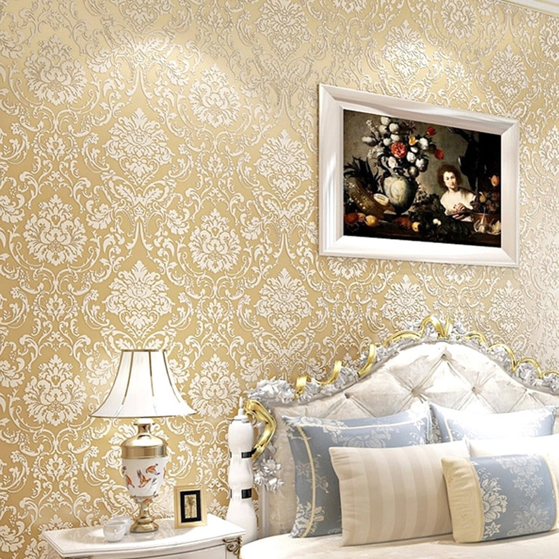 ثلاثية الأبعاد الأزهار غير المنسوجة ذاتية اللصق خلفية يمكن ارتداؤها التطريز التلفزيون خلفية ملصقات غرفة نوم غرفة المعيشة تنقش ورق الحائط