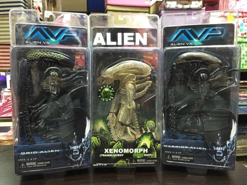 Alien Grid Alien vs Predator Warrior Alien Xenomorph ПВХ фигурка Коллекционная модель игрушки 19 см KT1912