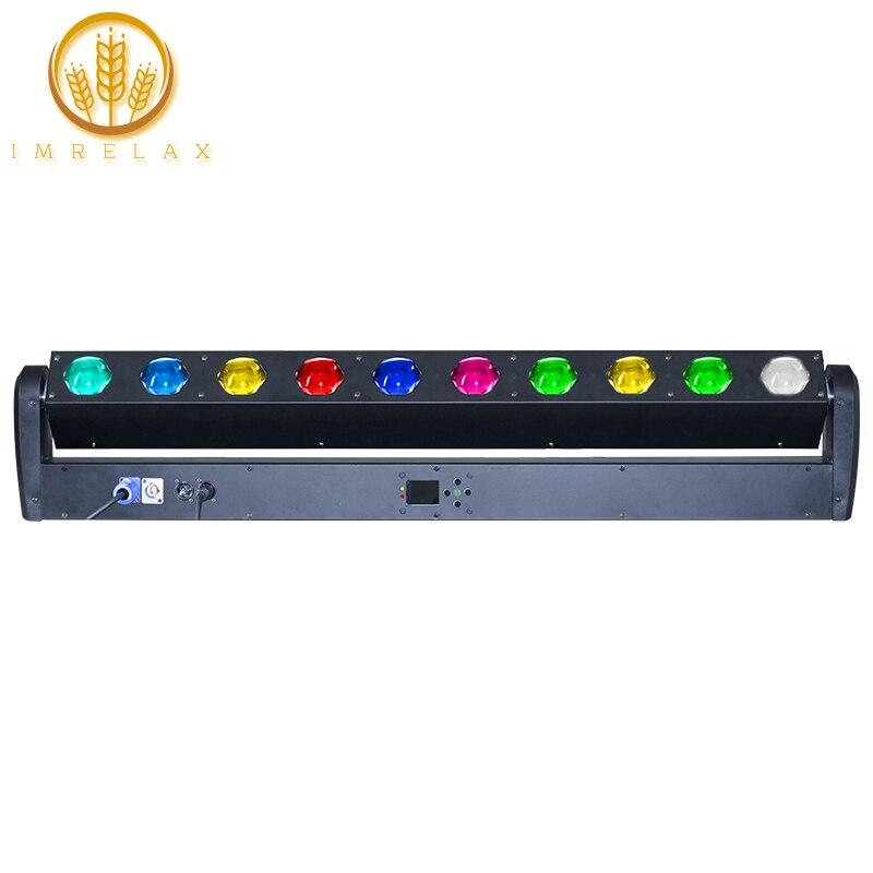 IMRELAX New 10x40w RGBW 4in1 LED Beam Bar Light High Brightness Strong Beam Wash Effect 10pcs 40W Bar Light