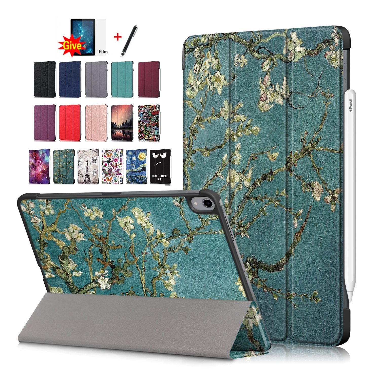 Ultra fino suporte para ipad ar 10.9 polegada 2020 tablet funda capa capa inteligente sono acordar caso para ipad ar 10.9 air pen com filme + caneta