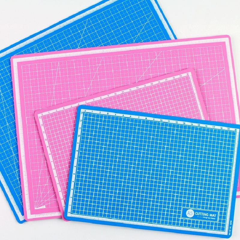 A4 / A5 Cutting Mat Cutting Supplies Pvc Double-sided Non-slip Diy Self-healing Patchwork Cutting Board Fabric Paper Cutting Mat