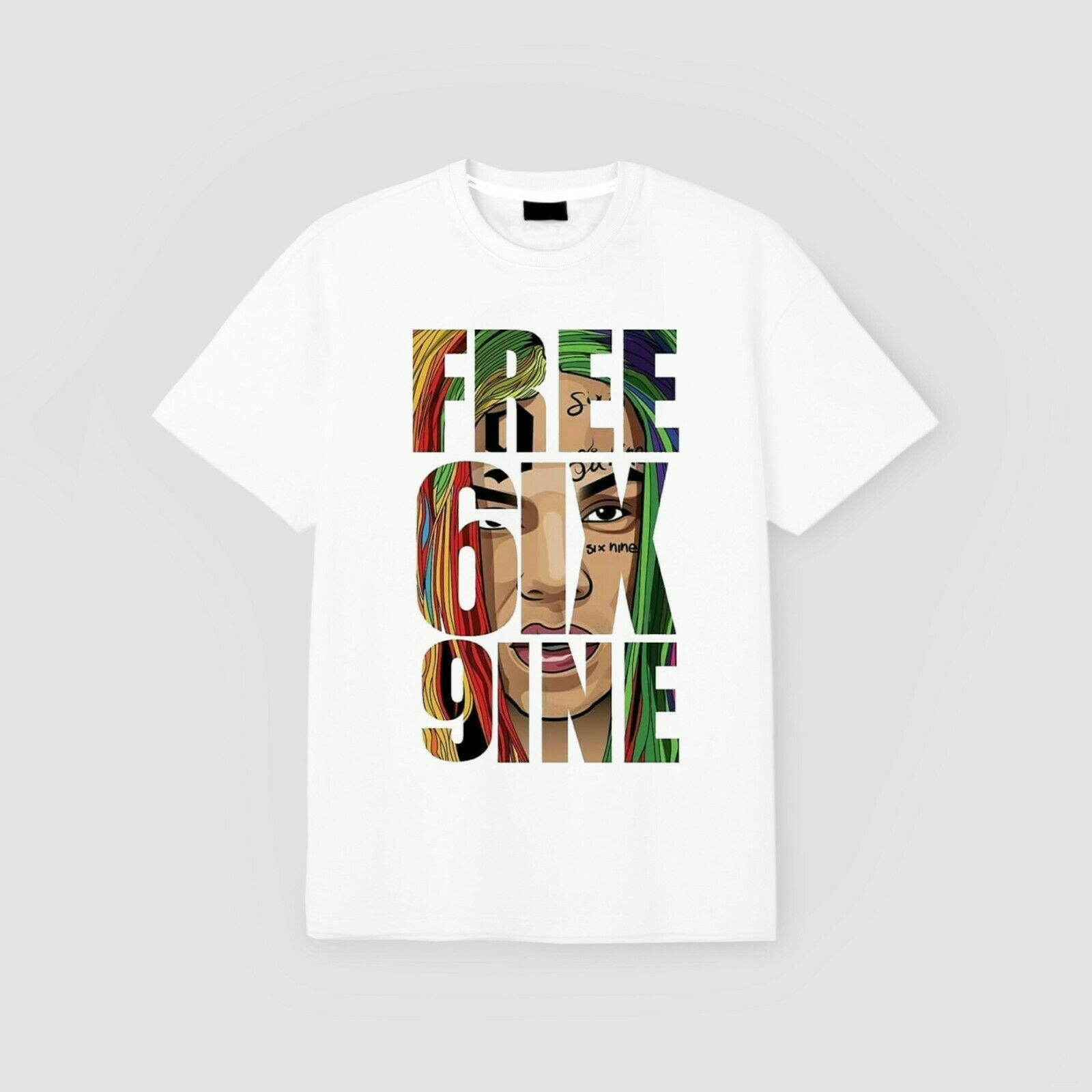 Free 6Ix9Ine Free Tekashi 69 T Shirt White