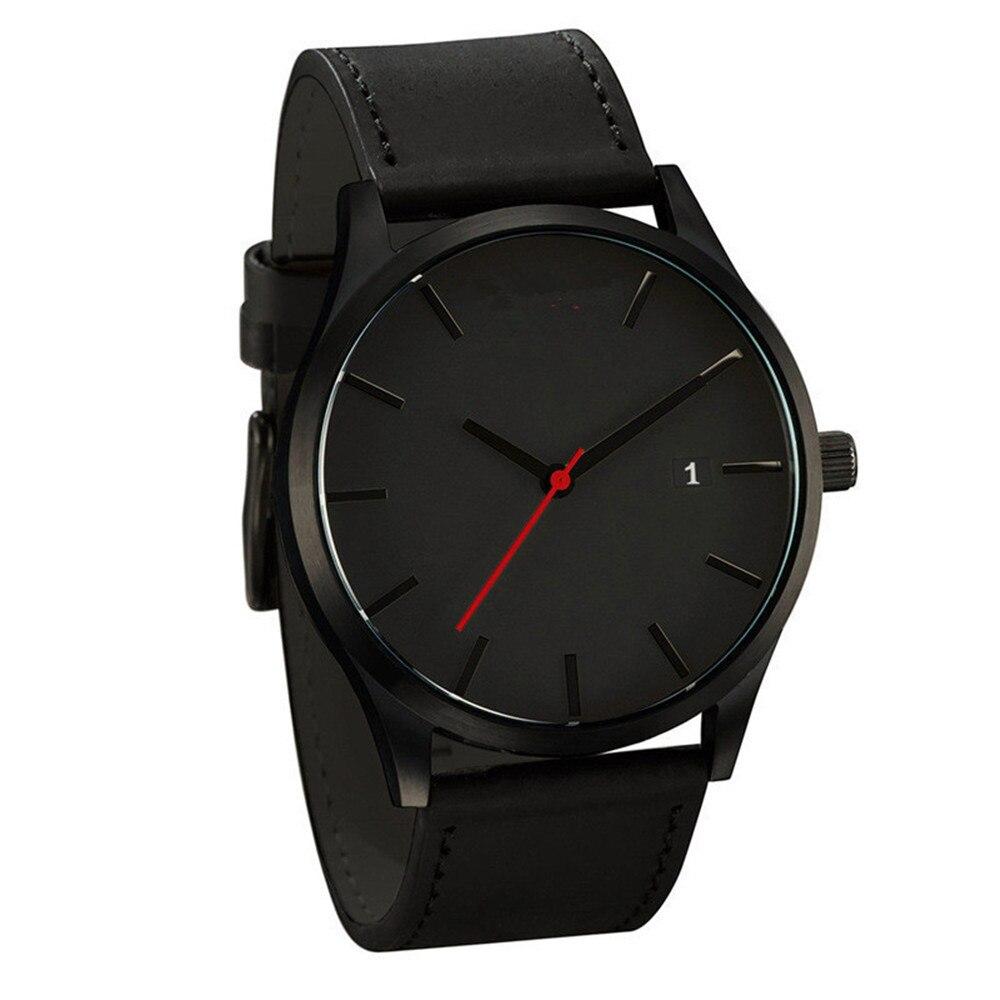Couple Fashion Leather Band Analog Quartz Round Wrist Business men's watch Ladies Dress Wr Ist Watches Clock Women Couple New