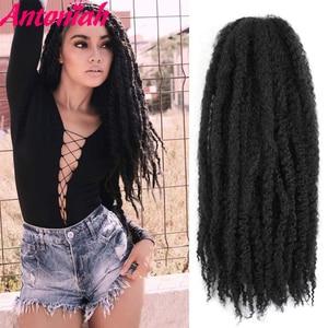 Antoniah Afro Kinky Marley Crochet Braids Hair 20inch Synthetic Braiding Hair Crochet Braids Hair Extensions for Black Women