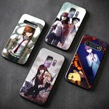 Kurisu Makise Rintaro Okabe Steins Gate anime phone case For Samsung galaxy s8 s9 s10e s10 note 8 9 10 Plus shell cover