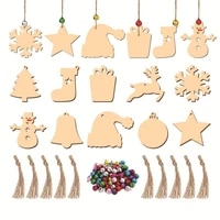 10 pcs wooden slices diy crafts creative decorative diy christmas wood cutouts wooden pieces for home christmas tree pendant