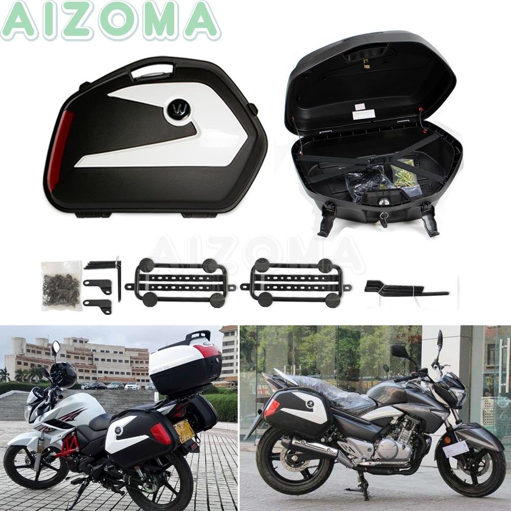 2 uds motocicleta de la calle 20L Pannier equipaje lado casos caja Universal para KAWASAKI YAMAHA Suzuki GW250 KTM 790/1190/1390 la aventura