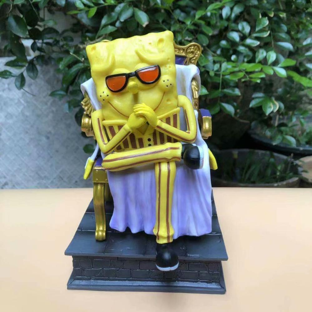 Anime una pieza Cosplay figuras en miniatura de juguete Bob Esponja-Borsalino Patrick Star-Sakazuki Calamardo-Kuzan PVC GK colección