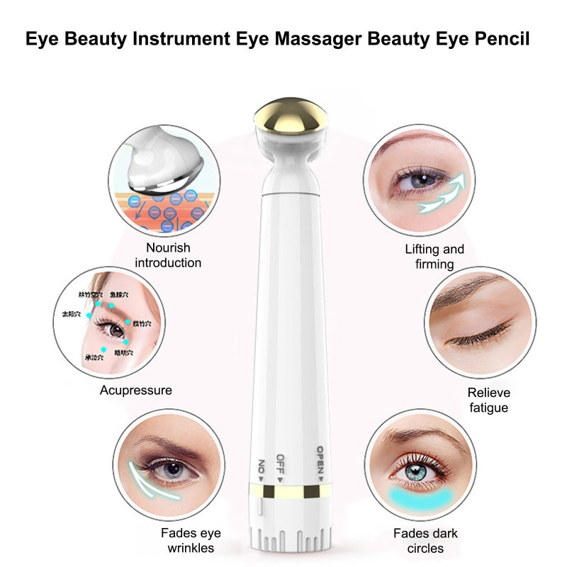 Mini Electric Vibration Eye Massager Anti-Aging Removal Wrinkle Dark Circle Pen Rejuvenation Beauty Skin Eye Care Portable Pen