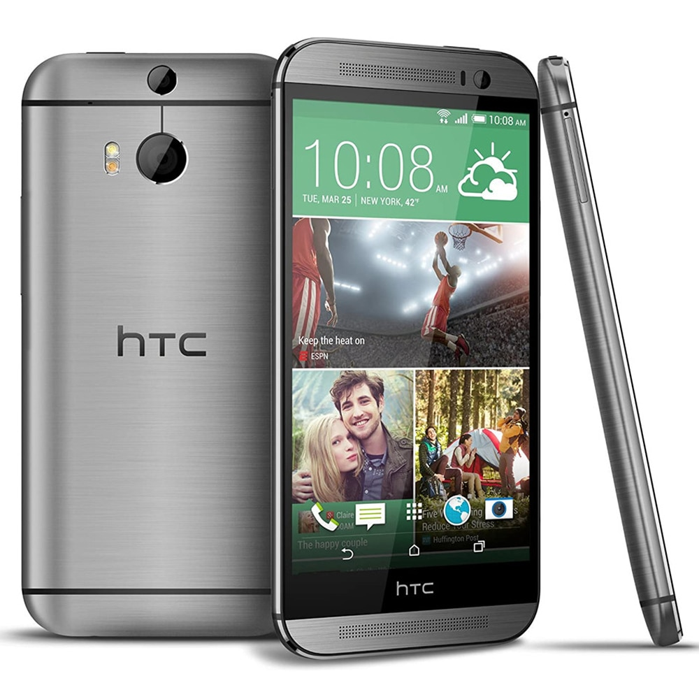 Quad Core Used 5.0inch HTC M8 2G/3G/4G LTE Android 2G RAM+32G ROM 5MP Mobile Phones Smartphones NFC WIfi Cheap Celulars Unlocked