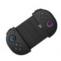 Игровой мини-контроллер с быстрой зарядкой типа C + держатель для телефона с телескопом, портативная игровая ручка, джойстик с чувствительны...