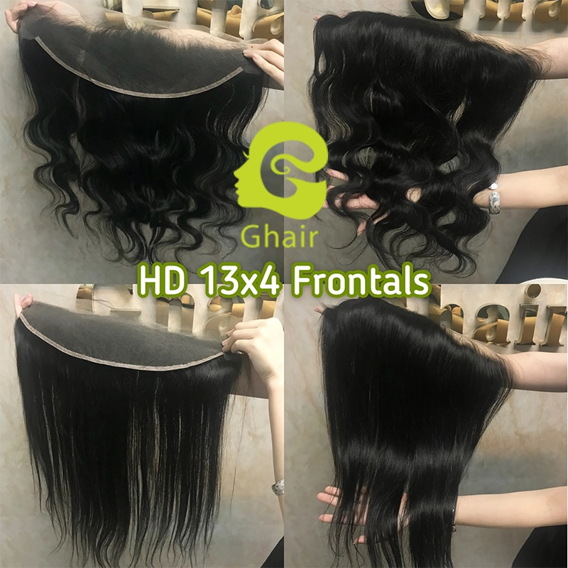 13X4 Real HD Lace frontal Wig Striaght/Body Wave HD Lace Frontal Natural Dark Brazilian Remy Human Hair Pre-Plucked Hairline