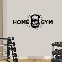 fitness home gym wall decals man cave boys girls fitness sign wall sticker home decoration art decal vinyl wall decor mural