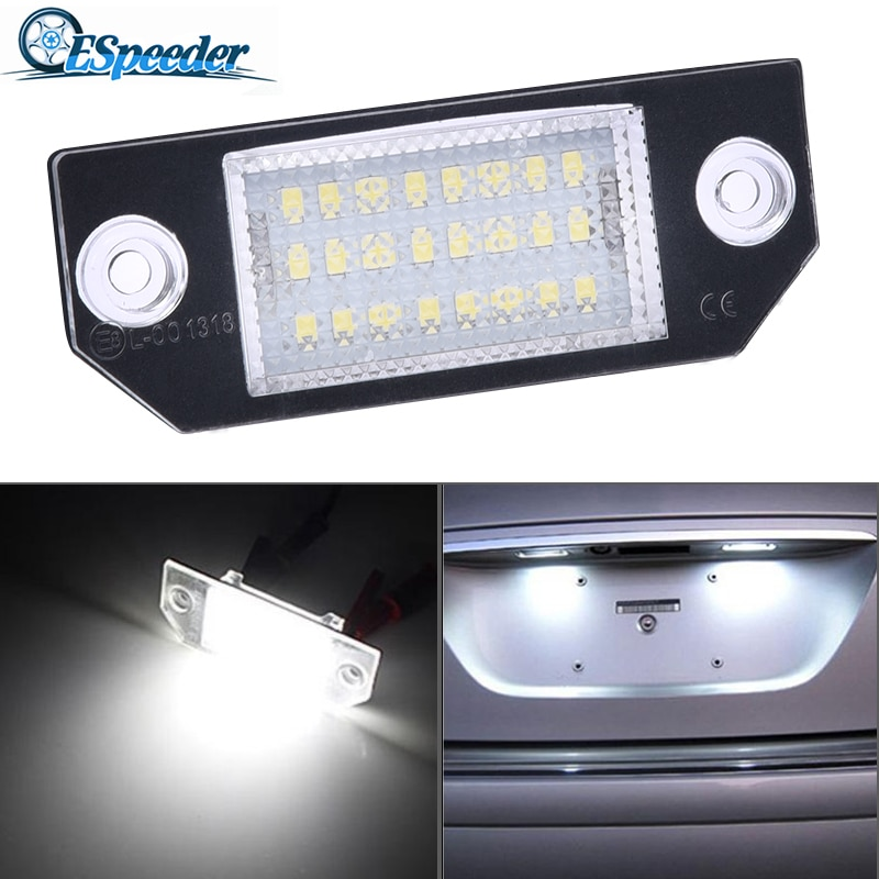 ESPEEDER 1PC 12V Car License Plate Lights Number Accessories Lamps Tail Light For 03-18 Ford Focus C