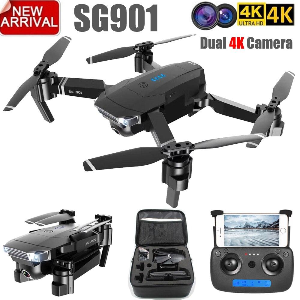 ZLRC New Sg901 Camera Drone 4k 1080p Hd Dual Camera Follow Me Quadrocopter Fpv Professional Gps Long Battery Life Toy Kid E58