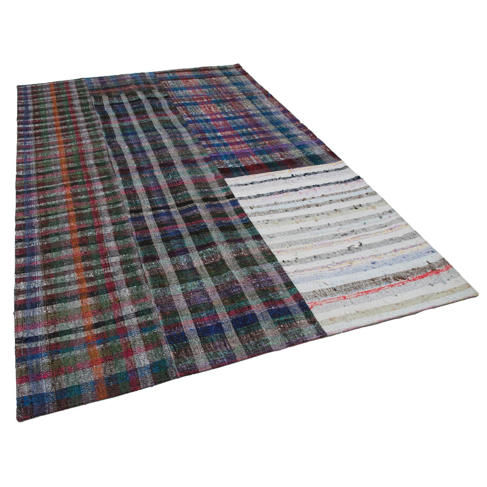 300x200 cm multicolorido tapetes artesanais retalhos Rug-7x10 pés