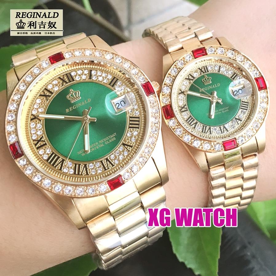 2020 Mens Watch Gold Luxury Dress Brand Diamend Quartz Wristwatch Luminous Japan часы мужски Geneva Designer 36mm Couple Watches enlarge