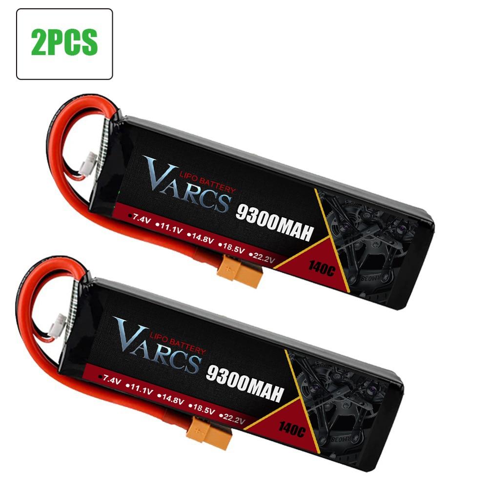 VARCS 2PCS RC battery Lipo 2S 3S 7.4V 11.1V 6500MAH 6750MAH 9300mah 10000mah 95C 130C 140C  for RC Stampede Car Drone enlarge