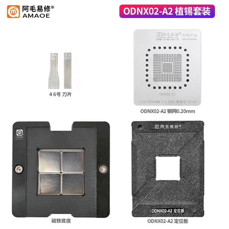 BGA – pochoir de remballage pour ODNX02-A2, kit de modèles à chauffage Direct