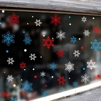 1pcs christmas stickers snowflake static wall stickers for glass scene layout glass door window stickers new year decorations