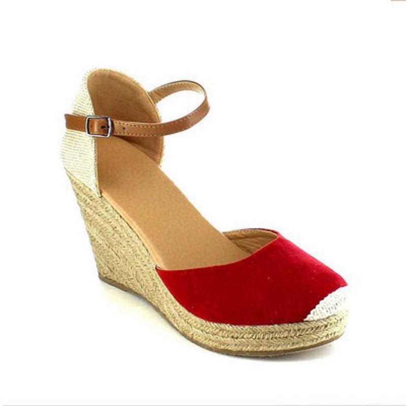Tamanho grande das mulheres pescador sapatos baixos nova fivela grama tecelagem respirável sapatos senhoras sapatos casuais