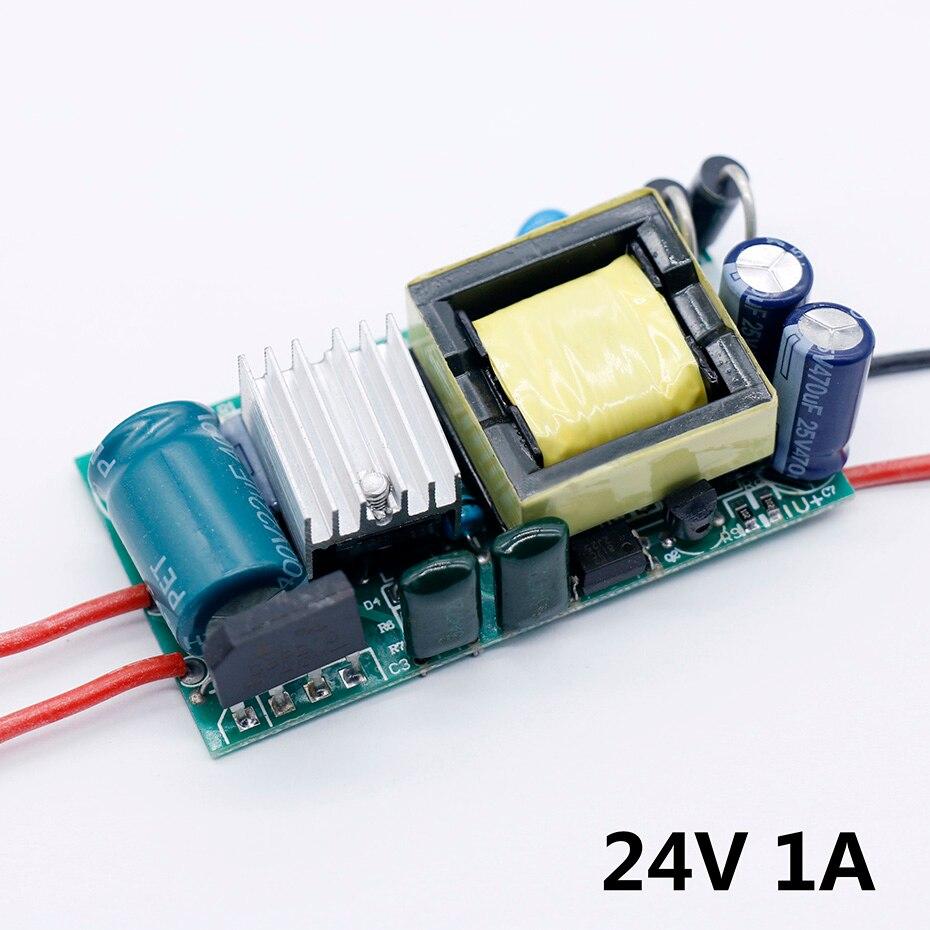 Fuente de alimentación 12-24V controlador LED 220V a DC24V 1A luz 12 V 6-60 W para 24V 1A 1.5A transformadores de luz LED 12 voltios para LED
