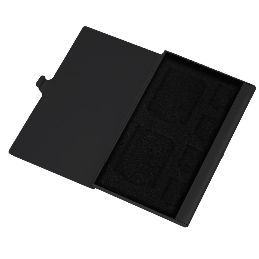 Étui de rangement pour carte mémoire Portable en aluminium TF microsd/micro support sac mémoire