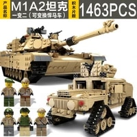 2 in 1war machine military ky10000 tank m1a2 childrens model assembled building block toy gift brick education christmas 7 old